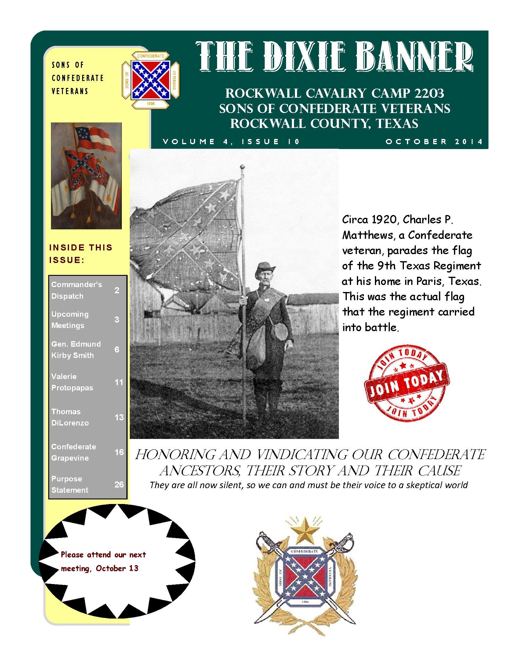 Dixie Banner October 2014